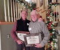 Lex Blood and Mike Conner receive the 2015 Flathead Land Trust Leadership Award